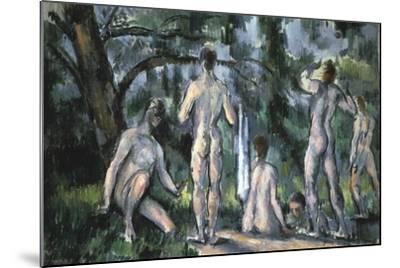 Study of Bathers, 1890-Paul C?zanne-Mounted Giclee Print