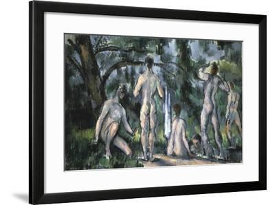 Study of Bathers, 1890-Paul C?zanne-Framed Giclee Print