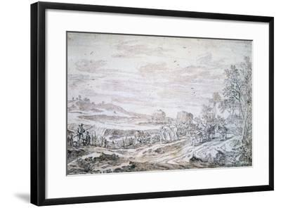 Landscape with Reapers, C1615-1661-Pieter Molijn-Framed Giclee Print