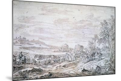 Landscape with Reapers, C1615-1661-Pieter Molijn-Mounted Giclee Print