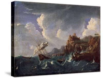 Stormy Sea, 17th Century-Pieter Mulier the Younger-Stretched Canvas Print