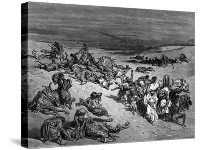 Pestilence, One of the Seven Plagues of Egypt, 1866-Gustave Dor?-Stretched Canvas Print