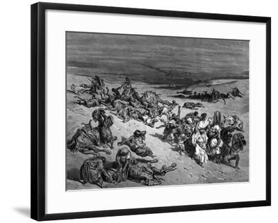Pestilence, One of the Seven Plagues of Egypt, 1866-Gustave Dor?-Framed Giclee Print