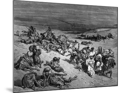 Pestilence, One of the Seven Plagues of Egypt, 1866-Gustave Dor?-Mounted Giclee Print