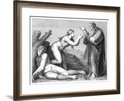The Creation of Eve, 1899- Pennemaeker-Framed Giclee Print