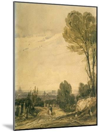 Paris Seen from the Pere Lachaise Cemetery, C1825-Richard Parkes Bonington-Mounted Giclee Print