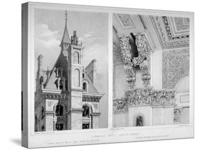 London Bridge Station, Bermondsey, London, 1860-Robert Dudley-Stretched Canvas Print