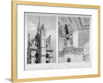 London Bridge Station, Bermondsey, London, 1860-Robert Dudley-Framed Giclee Print