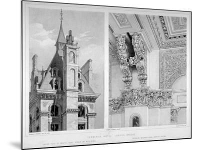 London Bridge Station, Bermondsey, London, 1860-Robert Dudley-Mounted Giclee Print