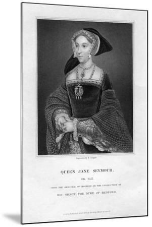 Jane Seymour, Third Wife and Queen of Henry VIII of England-R Cooper-Mounted Giclee Print
