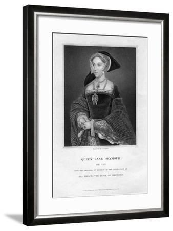 Jane Seymour, Third Wife and Queen of Henry VIII of England-R Cooper-Framed Giclee Print