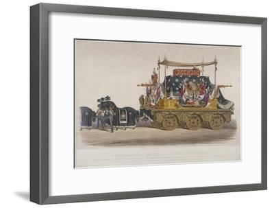 View of the Funeral Car of the Duke of Wellington, 1852-Richard Redgrave-Framed Giclee Print