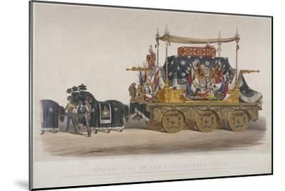 View of the Funeral Car of the Duke of Wellington, 1852-Richard Redgrave-Mounted Giclee Print