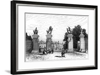 Entrance to Hampton Court Palace, 1880-Robert Taylor Pritchett-Framed Giclee Print