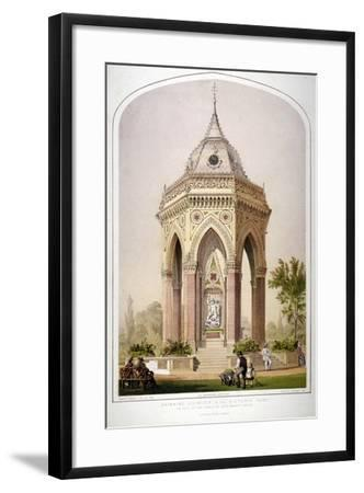 The Drinking Fountain in Victoria Park, Hackney, London, C1861-Robert Dudley-Framed Giclee Print