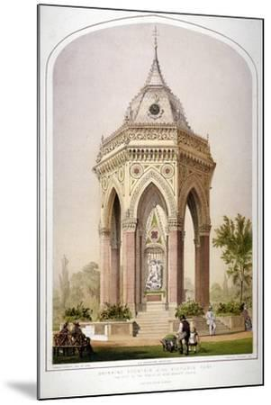 The Drinking Fountain in Victoria Park, Hackney, London, C1861-Robert Dudley-Mounted Giclee Print