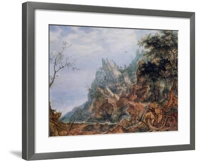 St Jerome in a Rocky Landscape, C1596-1639-Roelandt Savery-Framed Giclee Print