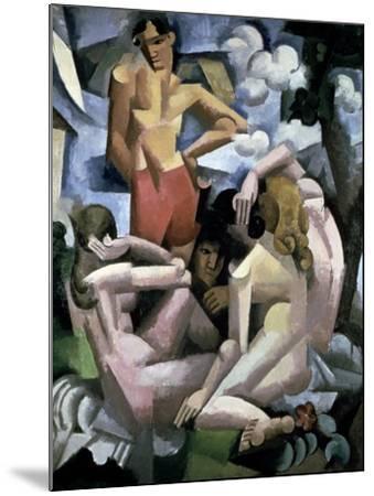 The Bathers, 1912-Roger de La Fresnaye-Mounted Giclee Print