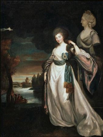 Portrait of the Lady-In-Waiting Coutess Alexandra Branitskaya, 1778-1781-Richard Brompton-Framed Giclee Print