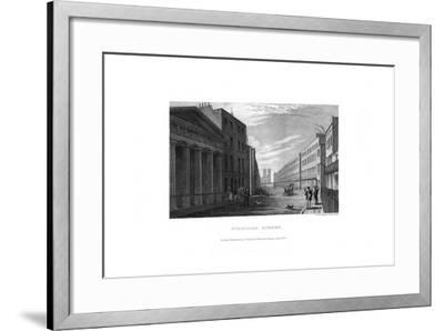 Stamford Street, London, 1830-RL Wright-Framed Giclee Print