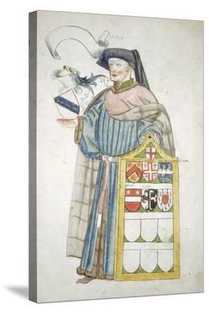 Unidentified London Alderman in Aldermanic Robes, C1450-Roger Leigh-Stretched Canvas Print