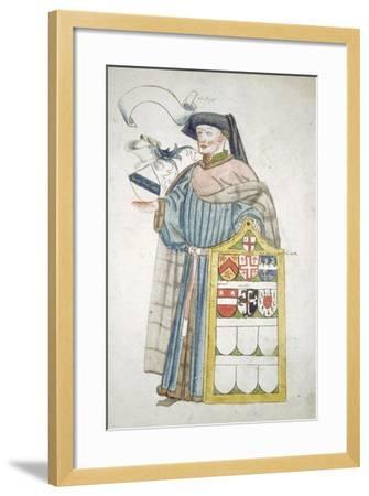 Unidentified London Alderman in Aldermanic Robes, C1450-Roger Leigh-Framed Giclee Print