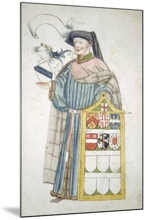 Unidentified London Alderman in Aldermanic Robes, C1450-Roger Leigh-Mounted Giclee Print