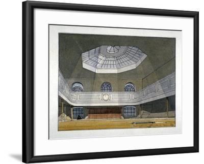 Interior View of the King's Weigh House, Eastcheap, City of London, 1819-Robert Blemmell Schnebbelie-Framed Giclee Print
