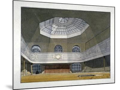 Interior View of the King's Weigh House, Eastcheap, City of London, 1819-Robert Blemmell Schnebbelie-Mounted Giclee Print