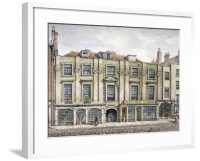 Shaftesbury House, Aldersgate Street, London, 1819-Robert Blemmell Schnebbelie-Framed Giclee Print