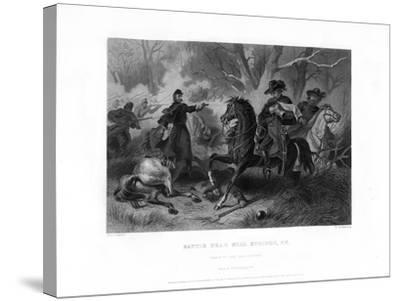 Death of General Felix Zollicoffer, Battle of Mill Springs, Kentucky, January 1862-R Dudensing-Stretched Canvas Print