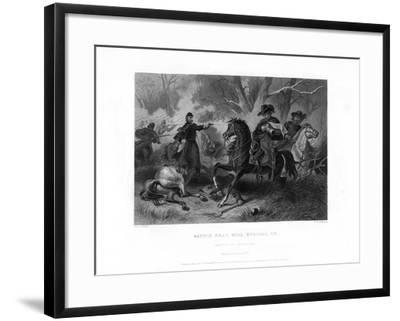 Death of General Felix Zollicoffer, Battle of Mill Springs, Kentucky, January 1862-R Dudensing-Framed Giclee Print
