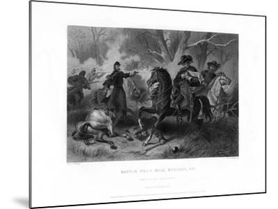 Death of General Felix Zollicoffer, Battle of Mill Springs, Kentucky, January 1862-R Dudensing-Mounted Giclee Print