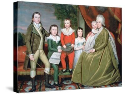 Mrs Noah Smith and Her Children, 1798-Ralph Earl-Stretched Canvas Print