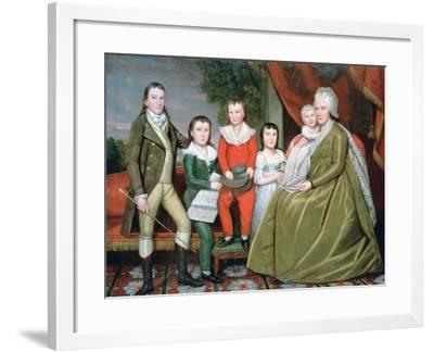Mrs Noah Smith and Her Children, 1798-Ralph Earl-Framed Giclee Print