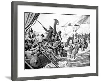 Saxon Raiders-Richard Caton Woodville II-Framed Giclee Print