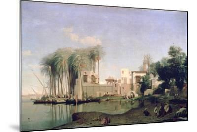 Beni Suef on the Nile, 19th Century-Prosper Georges Antoine Marilhat-Mounted Giclee Print