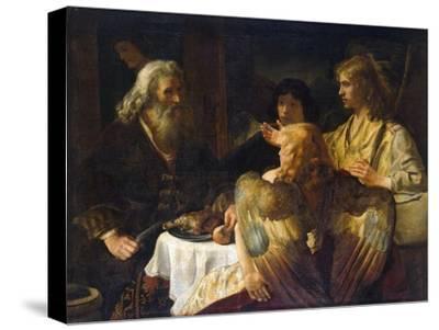 Abraham and the Three Angels, 1630S-Rembrandt van Rijn-Stretched Canvas Print