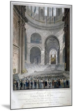 Anniversary Meeting of the Charity Children in St Paul's Cathedral, City of London, 1826-Robert Havell the Younger-Mounted Giclee Print