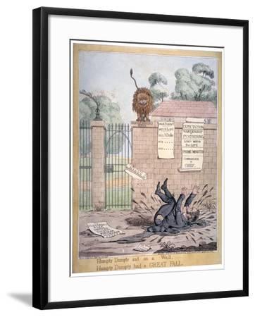 Humpty Dumpty Sat on a Wall..., 1821-Richard Dighton-Framed Giclee Print