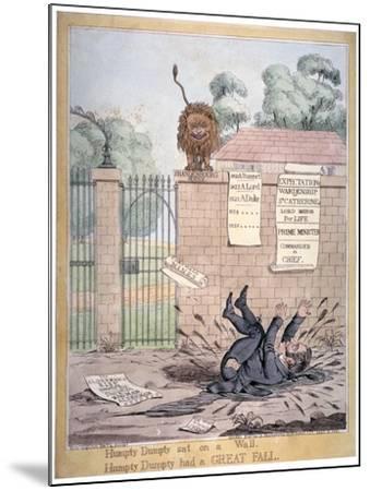 Humpty Dumpty Sat on a Wall..., 1821-Richard Dighton-Mounted Giclee Print