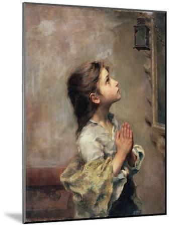 Praying Girl, Italian Painting of 19th Century-Roberto Ferruzzi-Mounted Premium Giclee Print