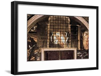 The Liberation of St Peter, 1514-Raphael-Framed Giclee Print