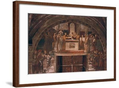 Justification of Leo III, 1514-Raphael-Framed Giclee Print