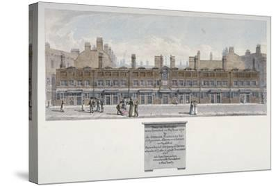 The Salters Almshouses in Monkwell Street, City of London, 1818-Robert Blemmell Schnebbelie-Stretched Canvas Print