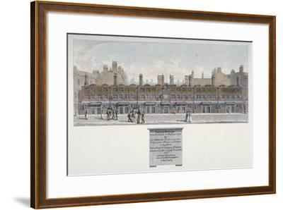 The Salters Almshouses in Monkwell Street, City of London, 1818-Robert Blemmell Schnebbelie-Framed Giclee Print