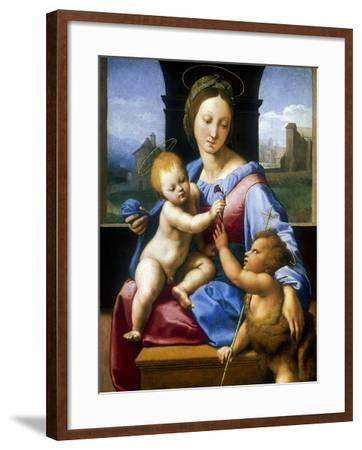 The Madonna and Child with the Infant Baptist' ('The Garvagh Madonna), C1509-1510-Raphael-Framed Giclee Print