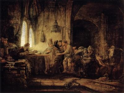 The Parable of the Labourers in the Vineyard, 1637-Rembrandt van Rijn-Framed Giclee Print
