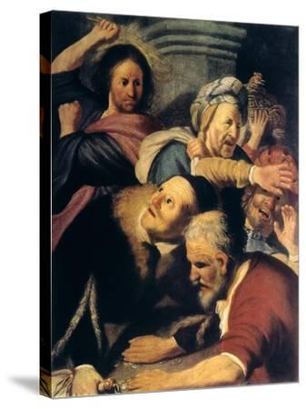 Christ Drives the Money-Changers from the Temple, 1626-Rembrandt van Rijn-Stretched Canvas Print