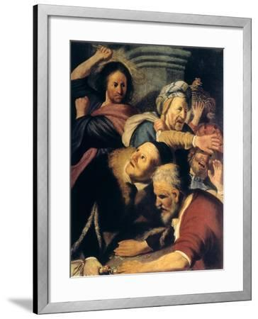 Christ Drives the Money-Changers from the Temple, 1626-Rembrandt van Rijn-Framed Giclee Print